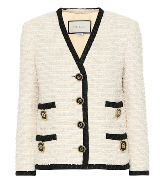 Gucci Tweed jacket in white