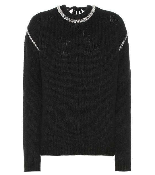 Rochas Alpaca and wool-blend sweater in black
