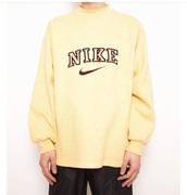 sweater,big logo,nike,vintage,yellow,90s style