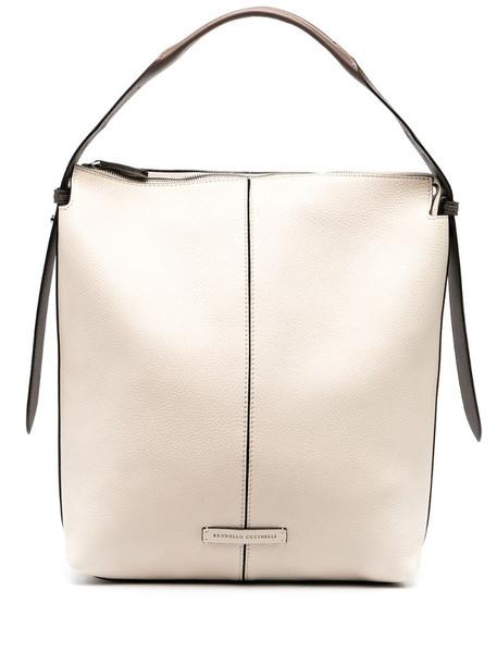 Brunello Cucinelli slouchy shoulder bag in neutrals