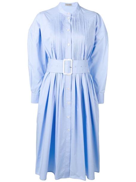 Bottega Veneta belted dress in blue