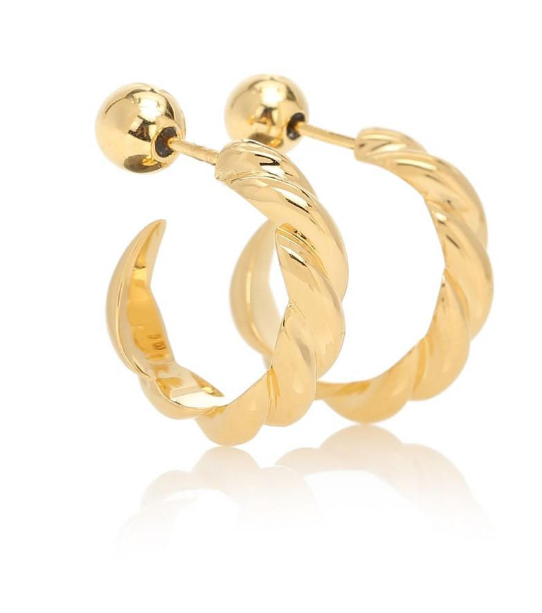 Sophie Buhai Small Rope 18kt gold vermeil hoop earrings