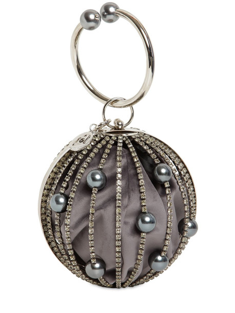 ROSANTICA Sasha Crystal Sphere Top Handle Bag in grey