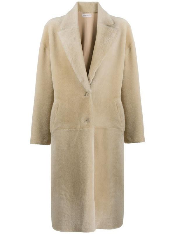 Inès & Maréchal long sleeve faux-fur coat in neutrals