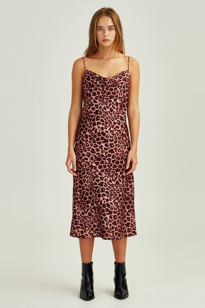 THE FIFTH LEOPARD DRESS peach leopard