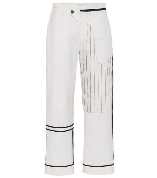 Monse Stretch-wool straight pants in white