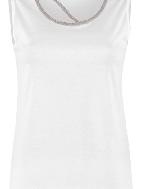 Fabiana Filippi Cotton Top in white