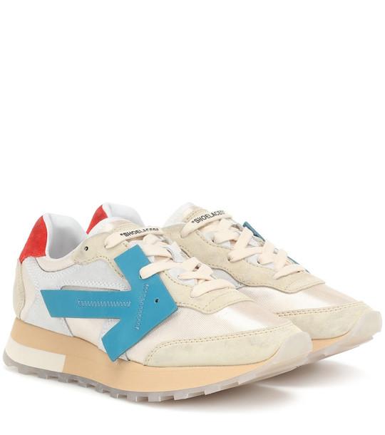 Off-White HG Runner suede sneakers in beige