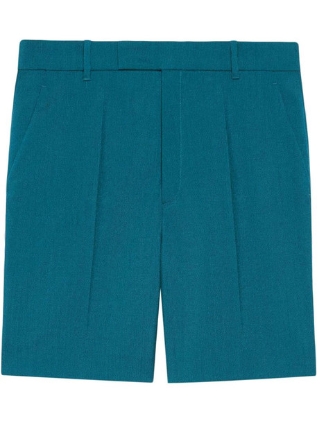 Gucci tailored wool shorts in blue