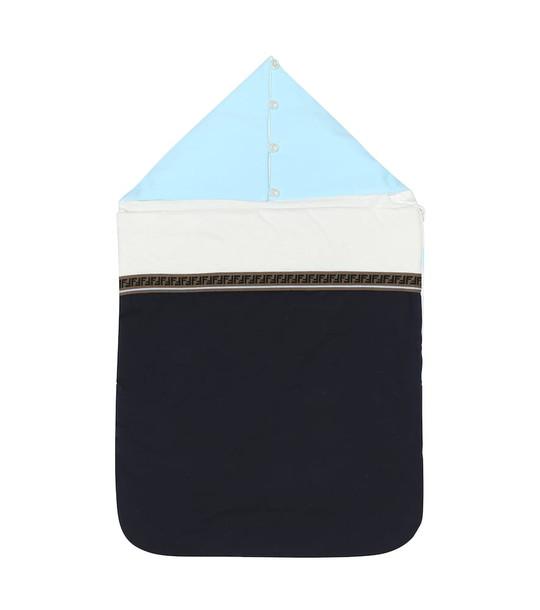 Fendi Kids Cotton bunting bag in blue