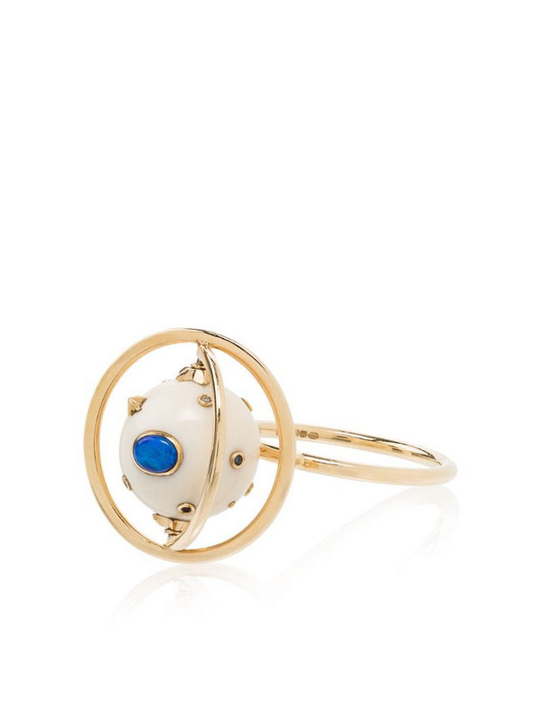 Bibi van der Velden 18kt yellow gold diamond cocktail ring