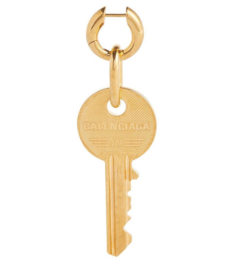 Balenciaga Key single earring in gold