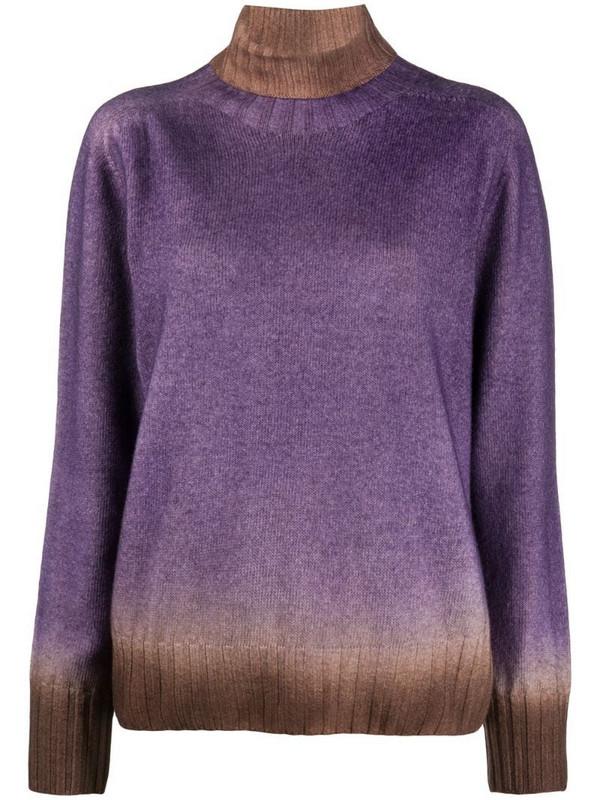 Altea Cisne tie-dye jumper in purple