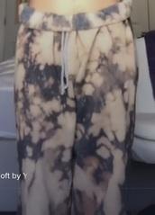 pants,bleached,tie dye,sweatpants,trendy