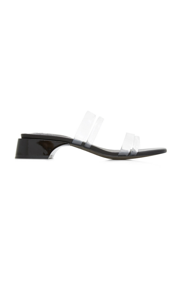 Miista Hamuera Clear Vinyl Sandals in black