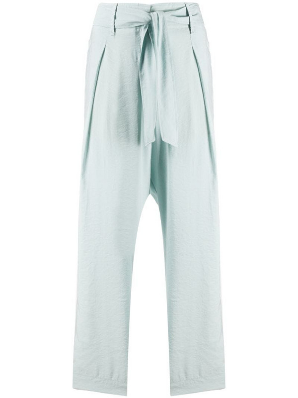 Forte Forte high-rise cropped trousers in blue