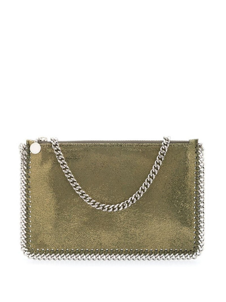 Stella McCartney green metallic chain-link bag