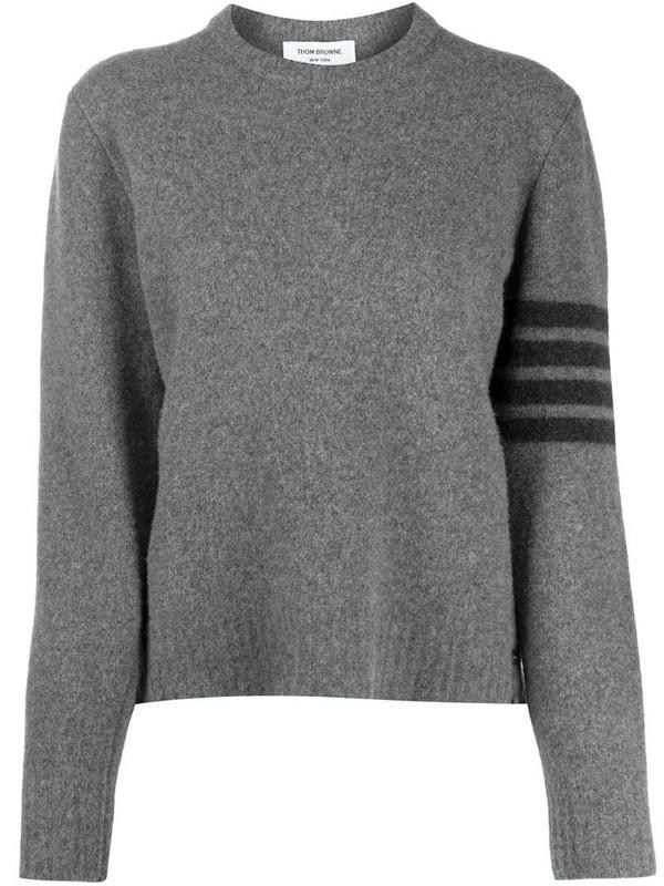 Thom Browne cashmere 4-Bar stripe jumper in grey