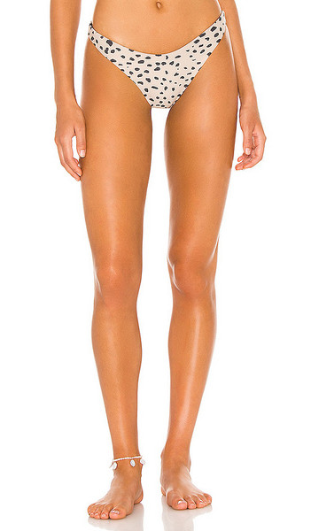 BEACH RIOT Island Bikini Bottom in Tan in taupe