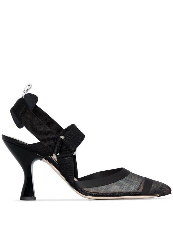 Fendi Colibrì FF motif slingback pumps in black