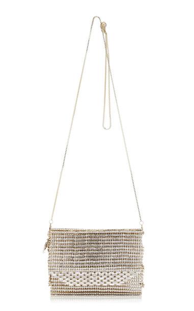 Rosantica Rossana Crystal Embellished Crossbody Bag in white