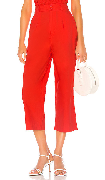 Camila Coelho Wynnie Crop Pant in Red
