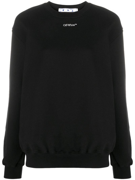 Off-White logo-print sweatshirt in black