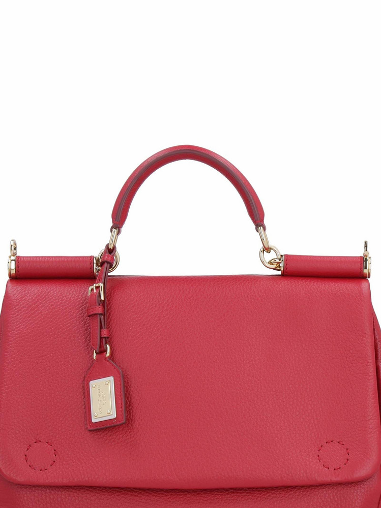 Dolce & Gabbana Sicily Leather Tote-bag in red