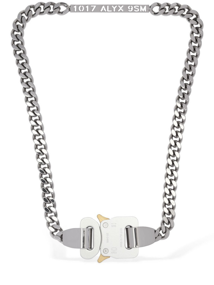 1017 Alyx 9sm Buckle Chain Necklace in silver