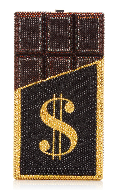 Judith Leiber Couture Rich And Delicious Crystal Clutch in brown