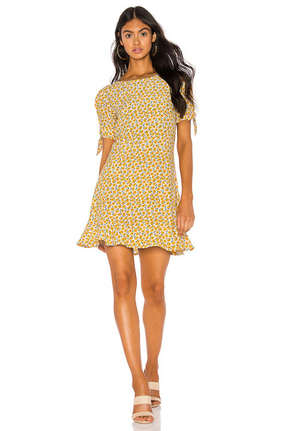 FAITHFULL THE BRAND Daphne Dress in yellow