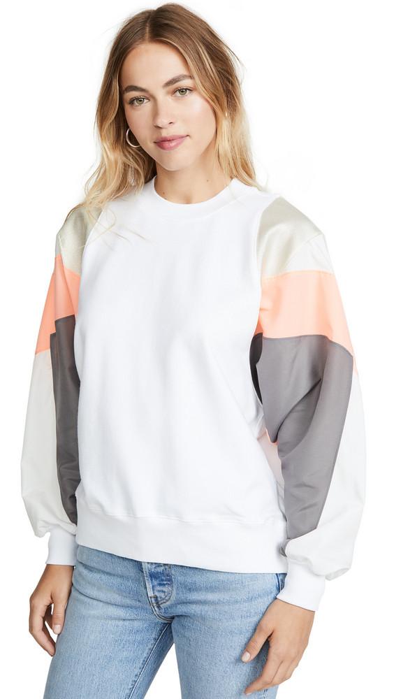 Clu Colorblock Pullover in white