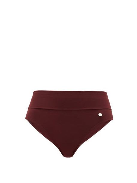 Max Mara Beachwear - Fidato Bikini Briefs - Womens - Burgundy