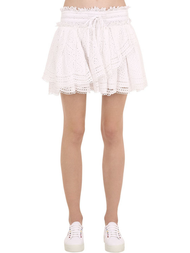 ZADIG & VOLTAIRE Embroidered Cotton Skirt in white