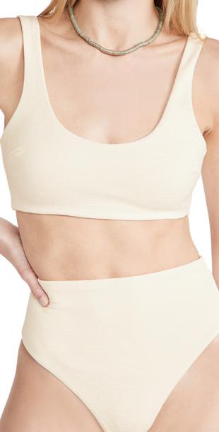 Mara Hoffman Lira Bikini Top in cream
