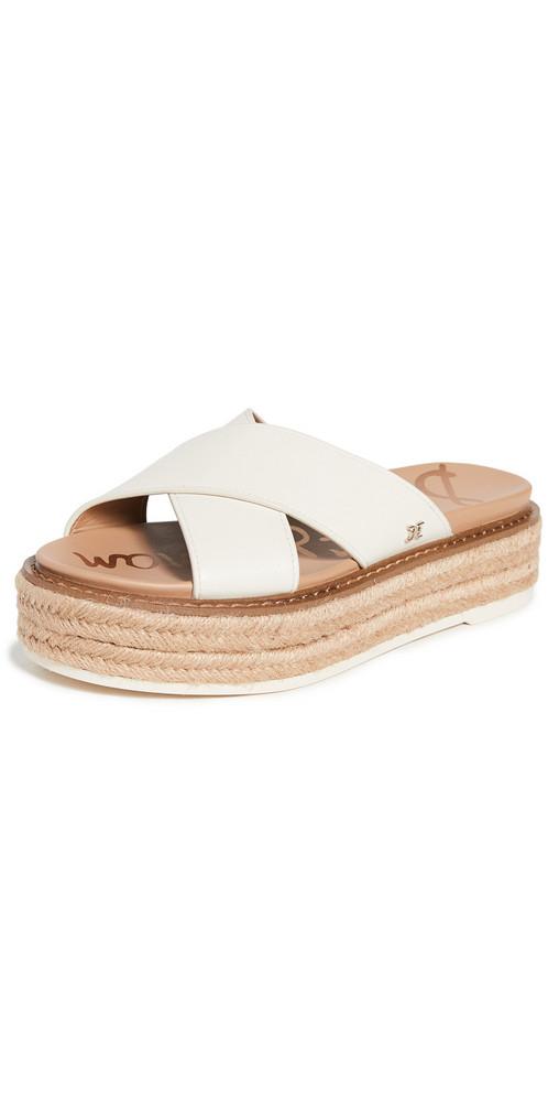 Sam Edelman Korina Platform Sandals in ivory