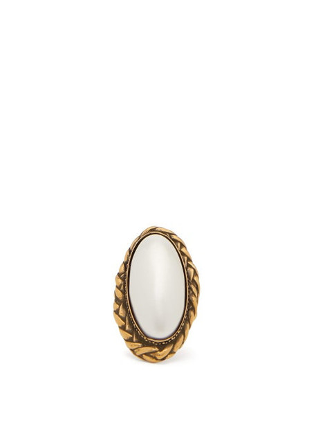 Alexander Mcqueen - Faux-pearl Ring - Womens - Gold