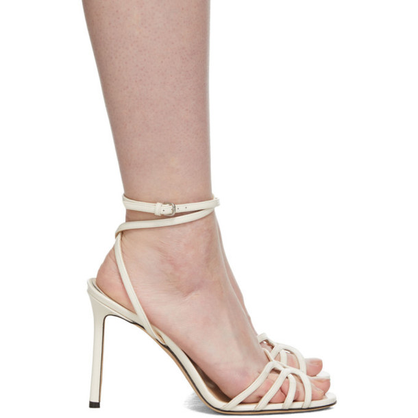Jimmy Choo Off-White Patent Mimi 100 Sandals