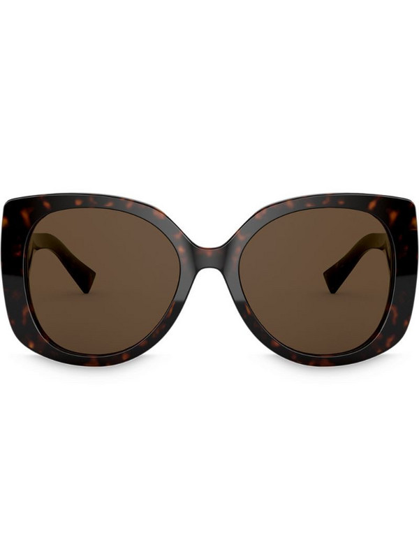 Versace Eyewear Medusa Icon square-frame sunglasses in brown
