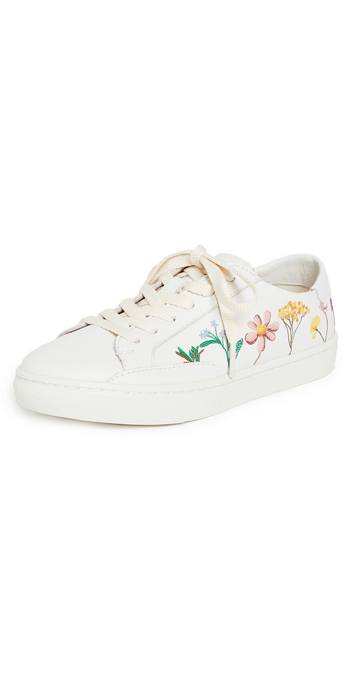 Soludos Pressed Flora Ibiza Sneakers in white