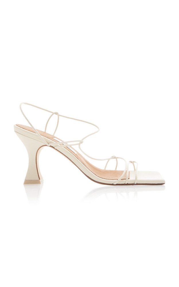 Miista Sally Leather Sandals in white