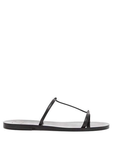 Valentino - Rockstud Embellished Leather Sandals - Womens - Black