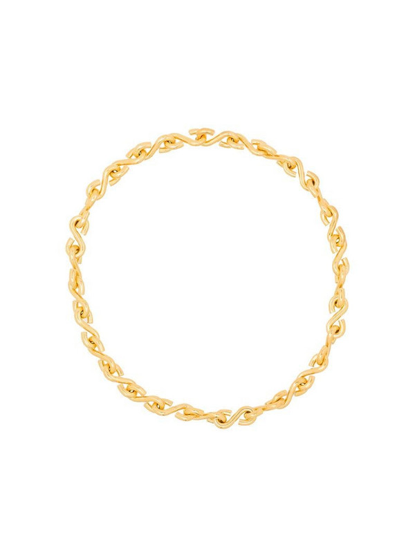 All Blues S-link chain necklace in gold