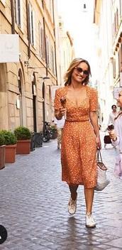 dress,giada di laurentiis,peach dress
