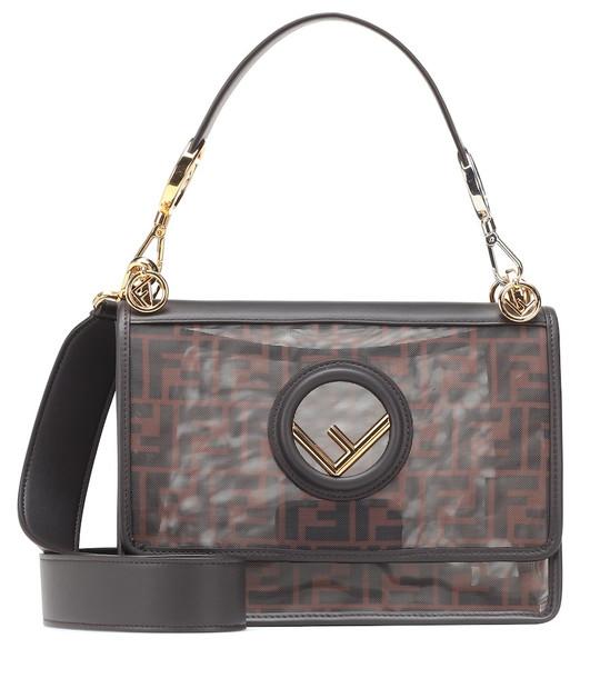 Fendi Kan I F shoulder bag in black