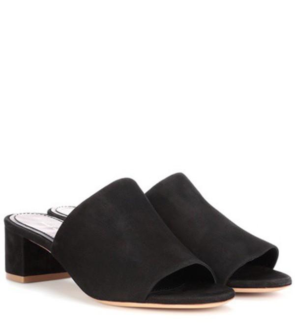 Mansur Gavriel Suede sandals in black