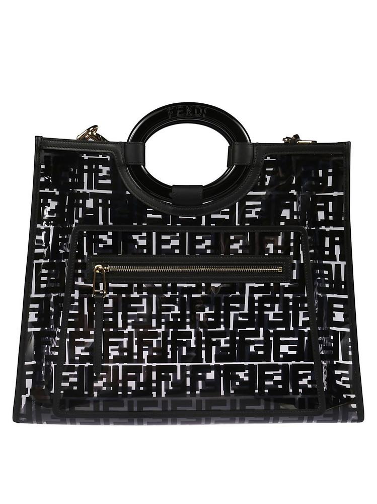 Fendi Runaway Shopper Bag in black