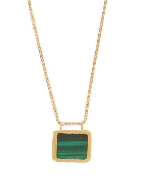 Orit Elhanati - Roxy Green Eye Malachite & 18kt Gold Necklace - Womens - Gold