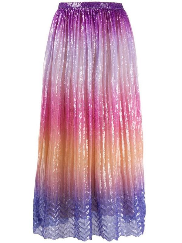 Marco De Vincenzo sequin-embellished degradé skirt in purple