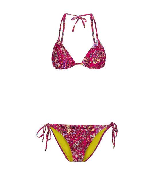 Etro Floral bikini in pink